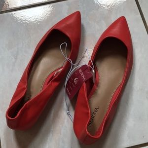 Merona orange pointed toe flats 6.5
